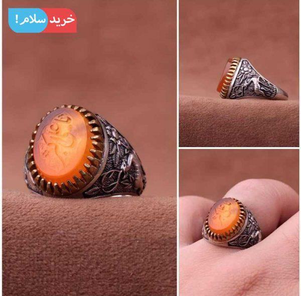 انگشتر عقیق مردانه ، انگشتر عقیق یمن مردانه ، انگشتر مردانه عقیق یمن ، انگشتر مردانه عقیق سرخ یمن